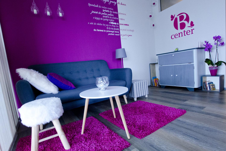 B center
