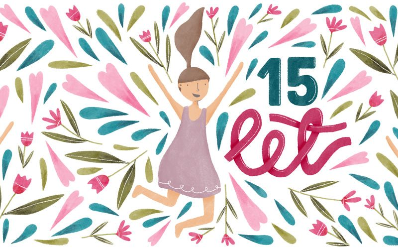 Vabilo na praznovanje 15. rojstnega dneva B centra