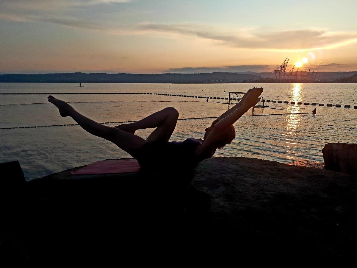 pilates na plaži